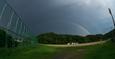 2つの虹が