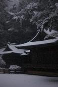 北九州では久しぶりの雪で(高見神社)-02